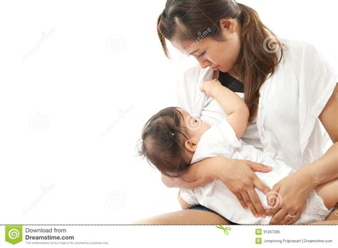 Mother Is Breast Feeding Royalty Free Stock Photo Image