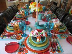 colorful table ls kitchen colors the and turquoise would add