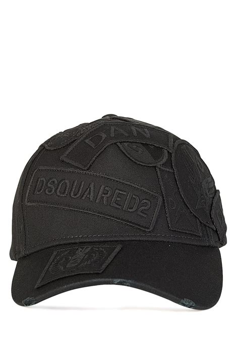 dsquared dsquared tonal patches cap clothing