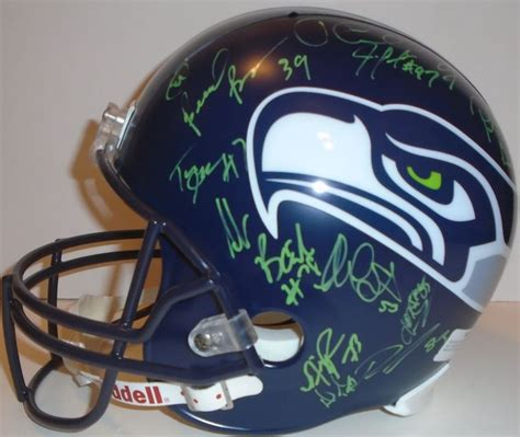 seattle seahawks autographed football collectibles