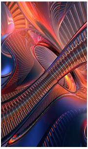 Glass swirls wallpaper | 3d and abstract | Wallpaper Better