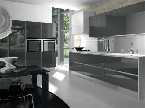 cuisines grises cuisine grise de design moderne 25 idées de décoration