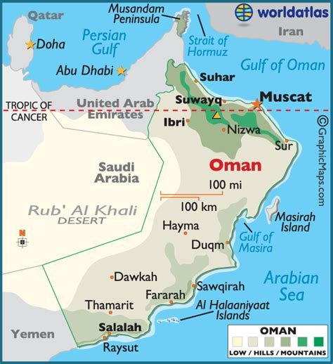 oman large color map