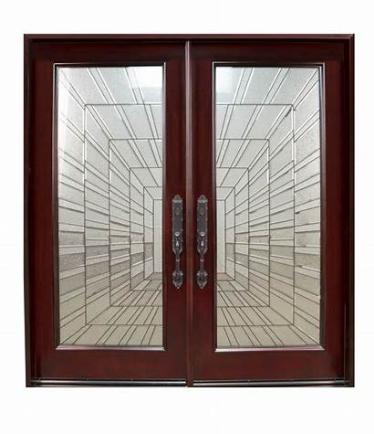 Door Double Swing Exterior Right Wood Entry