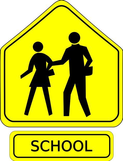 clipart school crossing caution