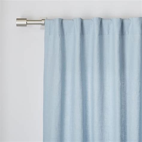 belgian flax linen curtain moonstone west elm