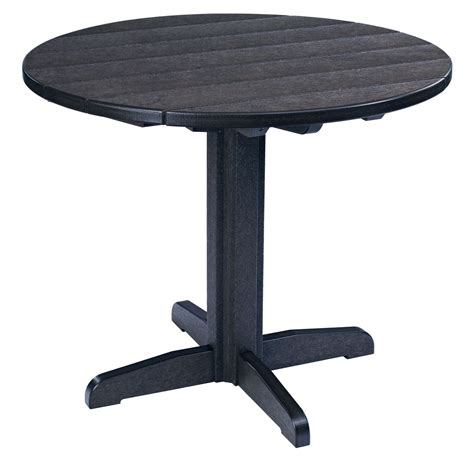 black round pedestal dining table generations black 37 quot round pedestal dining table from cr