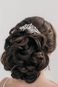 Peigne Cheveux Mariage : 55 id es romantiques de coiffure mariage cheveux longs ~ Preciouscoupons.com Idées de Décoration