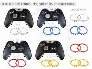 Xbox One Elite Controller Chrome Ring Joystick Ring Red