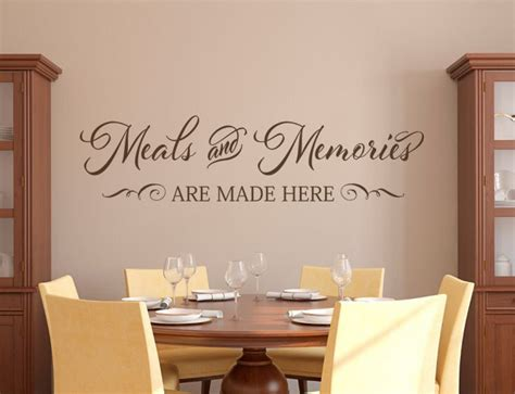 vinyl wall quote   dinning room kitchen wall