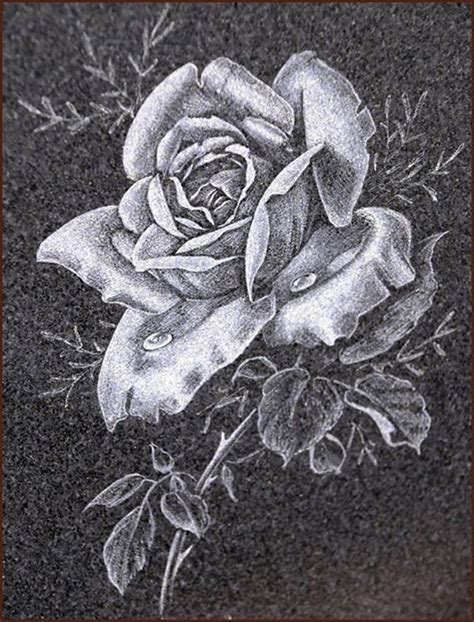 headstones  roses stones   simple rose