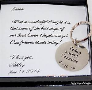 groom gift from bride key chain bride to groom gift on With wedding day gift ideas from groom to bride