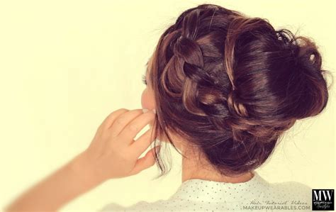 second day hairstyles how to chubby braid wrapped messy
