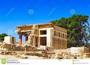 Knossos Palace Of King Minos, Crete, Greece. Stock Image ...