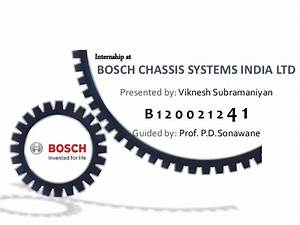 BE Project Presentation - Energy Conservation (Bosch Pune)