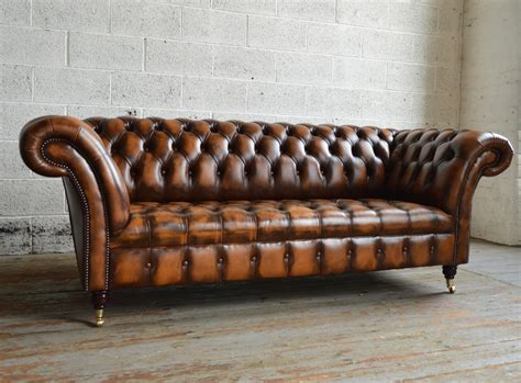 Vintage Sofa by Antique Belmont Leather Chesterfield Sofa Abode Sofas