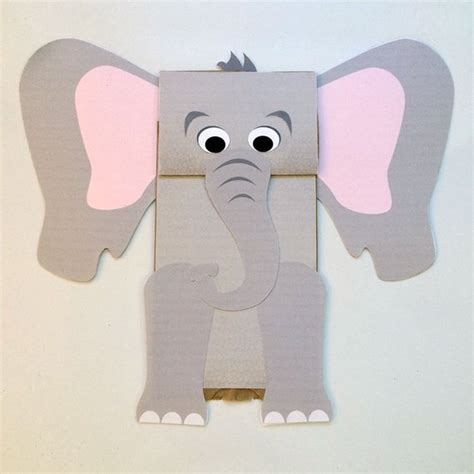 elephant paper bag puppet elephant paper bag puppet printable kid s craft 4397