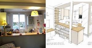 comment optimiser l39amenagement d39une petite cuisine ouverte With amenagement d une petite cuisine