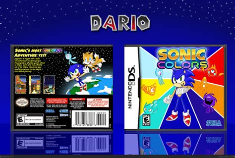 sonic colors ds sonic colors nintendo ds box cover by dario