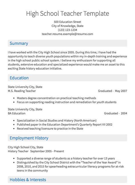 teaching resume sle resume com