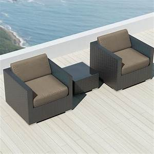 luxxella bistro 3pc sunbrella outdoor sectional sofa set With 3pc sectional sofa set with ottoman