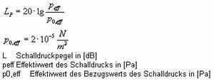 Logarithmus Berechnen : berechnung des schalldruckpegels schall und akustik ~ Themetempest.com Abrechnung