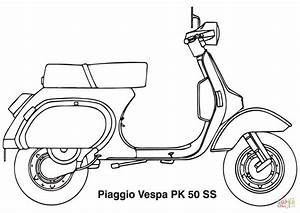 Piaggio Vespa Scooter coloring page | Free Printable ...
