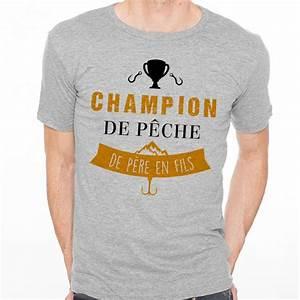 T Shirt Champion Homme : t shirt homme gris champion de p che de p re en fils ~ Carolinahurricanesstore.com Idées de Décoration