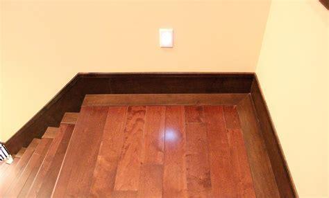 hardwood stairs landing isntalaltion   Carpet, Laminate