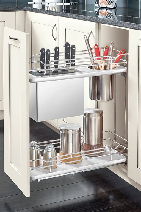 Base Knife Holder Pull Out Cabinet   Kitchen Craft
