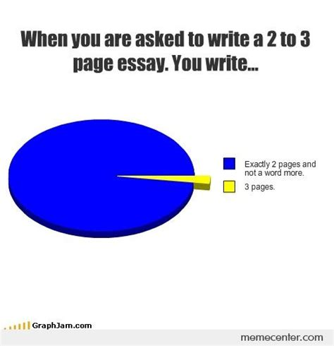 Essay Memes - when you are asked to write a 2 3 page essay by ben meme center