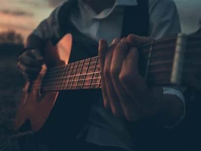5k Guitar Playing Boy Outdoor Standard