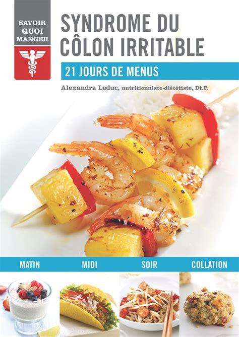 livre cuisine vegetarienne du côlon irritable alex cuisine