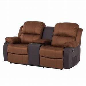 Relaxsofa 2 Sitzer : sofa norden 2 sitzer m relaxfunktion tisch microfaser kunstleder braun ebay ~ Watch28wear.com Haus und Dekorationen
