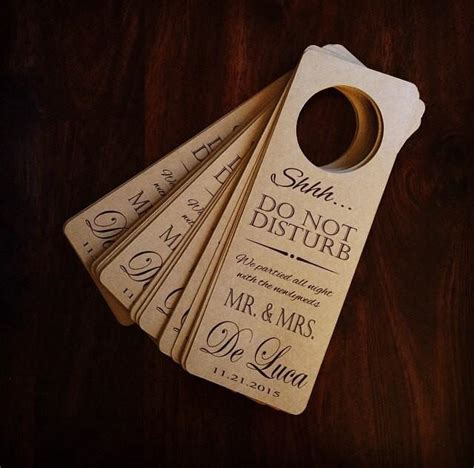 wedding door hanger set   hangers personalized door