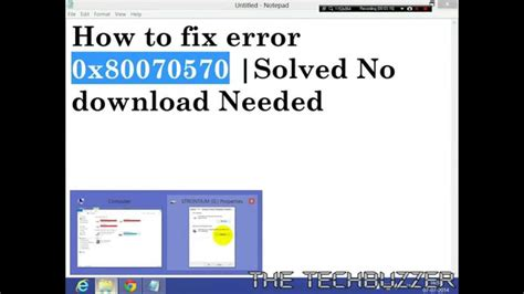 how to fix error 0x80070570 solved easiest fix no needed hd