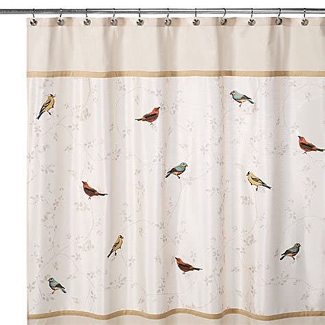 avanti gilded birds      shower curtain bed
