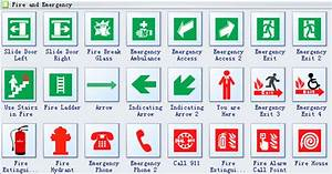 Emergency Evacuation Diagram Symbols