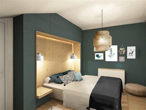 n continue avec les chambres avec du bois un cama 239 eu de vert d eau le tout dans un style