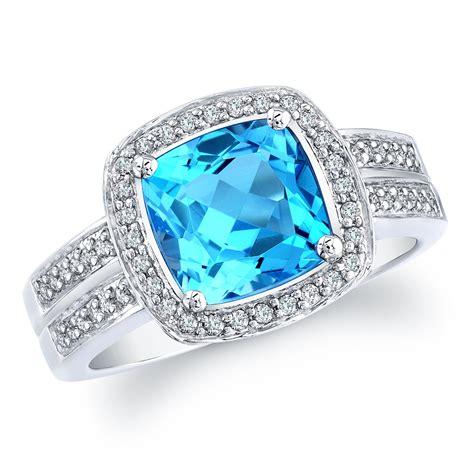 blue ring designer blue topaz ring