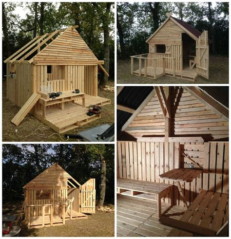 pallet cabin clubhouse build    pallets