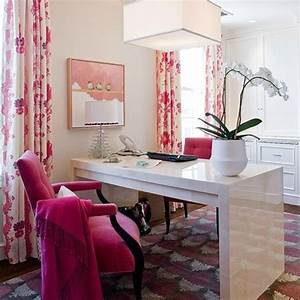 17 Pink Office Room Design For Girl
