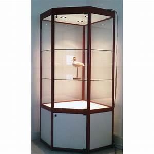 Meuble Avec Vitrine : vitrine grenat meuble vitrines pour magasin mus e vitrine d 39 angle avec meuble mod le ~ Teatrodelosmanantiales.com Idées de Décoration