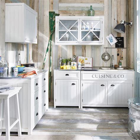 element cuisine bas meuble bas de cuisine en bois blanc l 90 cm newport