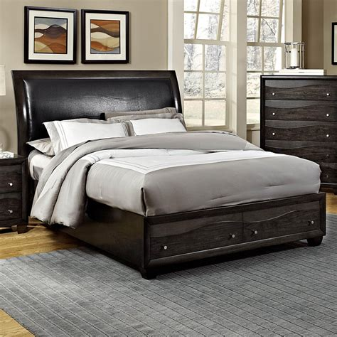 queen bed frame with storage from sears com