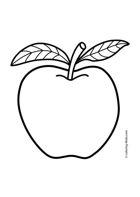 Coloring Fruit by Apple Coloring Pages For Fruits Coloring Pages