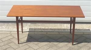 Table Basse Longue : longue table basse scandinave en teck 1950 design market ~ Teatrodelosmanantiales.com Idées de Décoration
