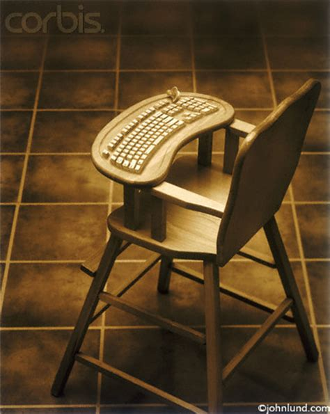 high tech highchair with built in keyboard