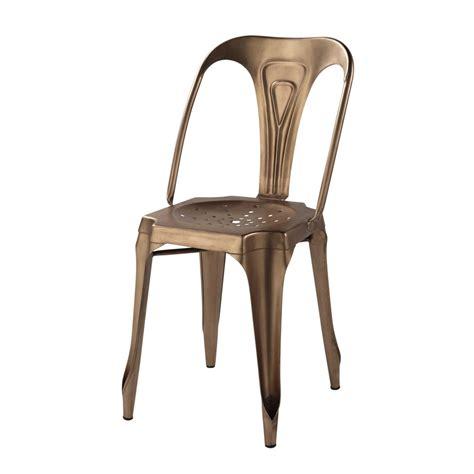 chaise metal maison du monde chaise indus en métal cuivré multipl 39 s maisons du monde