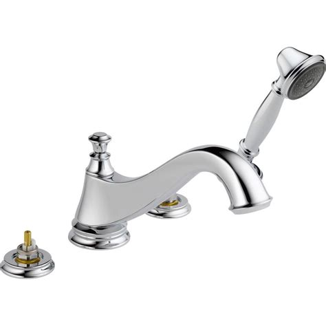 delta 1 handle single post floor mount roman tub faucet